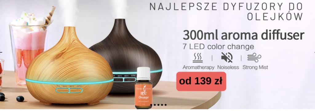 Najlepsze dyfuzory do aromaterapii Instytut Aromaterapii